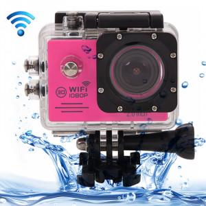 SJ7000 Full HD 1080P écran LCD 2,0 pouces Novatek 96655 Caméra caméscope sport WiFi avec étui étanche, objectif grand angle HD de 170 degrés, 30 m imperméable (magenta) SS123M1-20