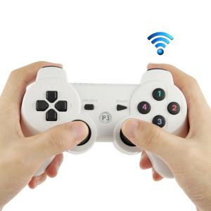 Double Shock III Wireless Controller, Manette Sans Fil Double Shock III pour Sony PS3, a action de vibration (blanc) SD590W-20