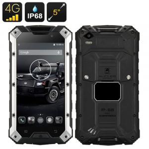 Conquest S6 Téléphone robuste / IP68 / 4G / 5 pouces 720p / Android 4.4 / CPU Quad Core 1.5GHz / Pad de recharge sans-fil / Noir** CC5744-20