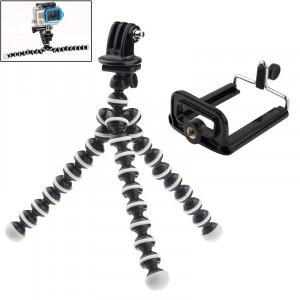 Trépied flexible 2 en 1 avec adaptateur de montage + Ensemble d'adaptateur de montage pour GoPro HERO4 / 3 + / 3/2/1 / SJ4000 / Téléphone portable ST24562-20