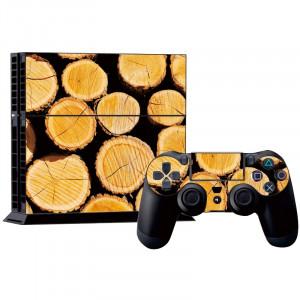 Autocollants décoratifs en bois pour console de jeux PS4 SA016G-20
