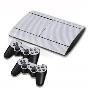 Autocollants en autocollant en fibre de carbone pour console de jeux PS3 (Gris) SA005H-20