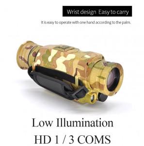 Monoculaires infrarouges numériques de vision nocturne Full Dark Gamme 5X40 200M Chasse Monoculaire Optiques de vision nocturne noir C062C019566-20