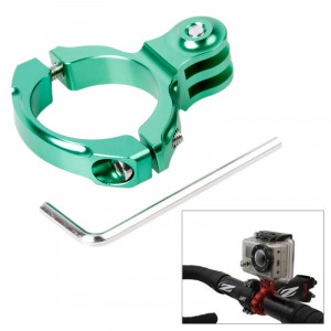 TMC Bike Aluminium Handle Bar Montage standard pour GoPro Hero 4 / 3+ / 3/2/1, diamètre interne: 31.8mm (vert) ST042G3-20