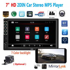 N7 2DIN 7 pouces HD Voiture Bluetooth MP5 Lecteur USB Flash Disk Radio Affichage Vidéo Sans appareil photo C0LQSQ3182-20