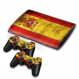Autocollants de décalcomanies de drapeaux espagnols pour console de jeux PS3 SA002F-20