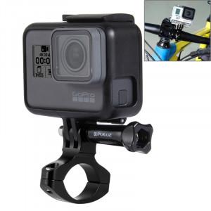 PULUZ Ensemble d'adaptateur de guidon en aluminium à bicyclette pour GoPro HERO5 / 4/3 + / 3/2/1, Xiaoyi, etc. Caméras sportives (noir) SP193B2-20