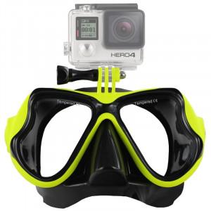 Équipement de plongée sous-marine Masque de plongée Lunettes de natation pour GoPro HERO4 / 3 + / 3/2/1 (Vert) S1235G-20