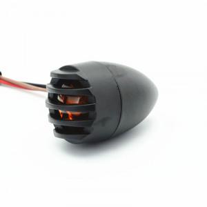 2 Packed Vintage moto lumière de queue ronde forme LED feu stop pour Harley Bobber Chopper C28314733-20