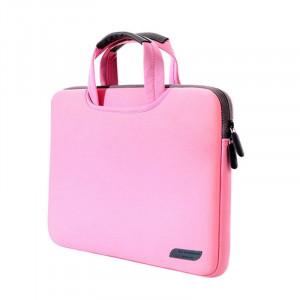 Sac à main portatif portable portable à air comprimé de 13,3 pouces pour MacBook Air / Pro, Lenovo et autres ordinateurs portables, taille: 34x25.5x2.5cm (rose) SS512F-20