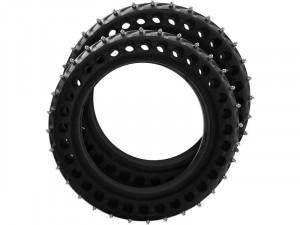 Kit de 2 pneus hiver pleins à crampons amovibles pour trottinette Xiaomi VHEGEN0002-20