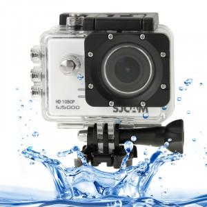 SJCAM SJ5000 Novatek Full HD 1080P Écran LCD de 2,0 pouces Caméra caméscope sport avec boîtier étanche, capteur CMOS 14,0 méga, 30 m imperméable (blanc) SS054W2-20