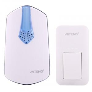 AITENG V026G Sonnette sans fil sans batterie sans vie, 1 récepteur + 1 x émetteur, Distance du récepteur: 130 m, fiche US SA1161-20