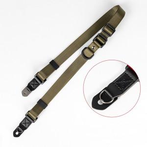 Courroie réglable d'appareil-photo de cou d'épaule pour l'appareil-photo SLR, machine micro ArmyGreen de carte de SLR Camerae C0SKON4862-20