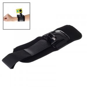 Courroie à genouillère à 360 degrés / sangle de poignet + support de connecteur pour caméra sport Xiaomi Yi SC03991-20