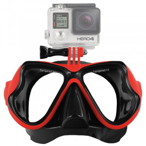 Équipement de plongée sous-marine Masque de plongée Lunettes de natation pour GoPro HERO4 / 3 + / 3/2/1 (Rouge) S1235R-20