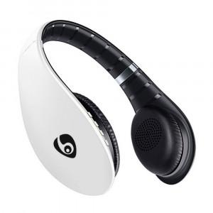 Casque OVLENG S66 stéréo avec microphone serre-tête audio 3,5 mm pour TV PC Smartphone, blanc C27071609-20