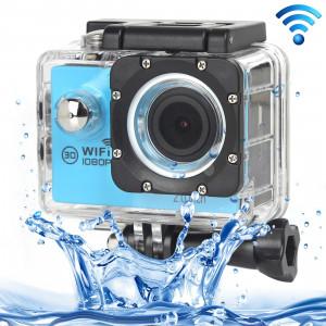 H16 1080P Caméra sport imperméable WiFi WiFi, écran 2,0 pouces, Generalplus 4248, 170 A + degrés Grand angle, carte support TF (bleu) SH243L3-20