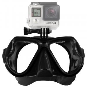 Équipement de plongée sous-marine Masque de plongée Lunettes de natation pour GoPro HERO4 / 3 + / 3/2/1 (Noir) S1235B-20