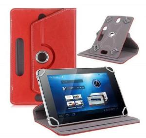 7/8/9/10 Etui de protection universel en cuir à 360 degrés pivotant pour tablette en cuir, rouge_7 pouces C908X8615-20