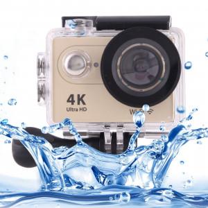 H9 4K Ultra HD1080P 12MP Écran LCD 2 pouces WiFi Caméra sportive, objectif grand angle 170 degrés, 30m étanche (or) SH086J0-20