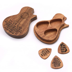 Guitare Suit Suit Pics de guitare en bois Affaire guitare délicate Picks Accessoires de guitare Couleur bois C0JX3U7137-20