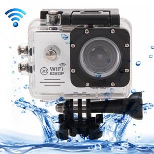 SJ7000 Full HD 1080P écran LCD 2,0 pouces Novatek 96655 Caméra caméscope sport WiFi avec étui étanche, 170 degrés Lentille grand angle HD, 30m étanche (blanc) SS123W0-20