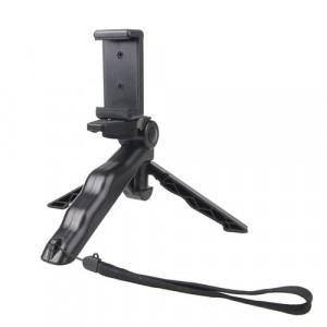 Prise de main portative / mini trépied Stadicam Curve avec clip droit pour GoPro HERO 4/3 / 3+ / SJ4000 / SJ5000 / SJ6000 Sports DV / Appareil photo numérique / iPhone, Galaxy et autres téléphones portables (noir) SP499B5-20