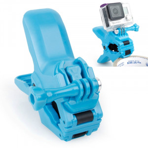 TMC Jaws Flex Clamp Mount avec vis Buckle & Thumb pour GoPro Hero 4 / 3+ / 3/2/1 (Bleu) ST262L2-20