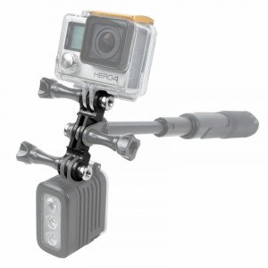 TMC HR385 Double GoPro / GoPro LED Mount pour GoPro HERO4 Session / 4/3 + / 3/2/1 (Noir) ST387B7-20