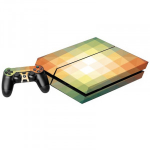 Gradient Effect Plaid Pattern Decal Stickers pour PS4 Game Console SG016P-20