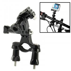 Bicyclette Bicyclette Barre de guidon Support de barre avec bras pivotant 3 voies pour GoPro HD HERO4 / 3+ / 3/2/1 (Noir) SB00412-20
