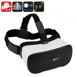 Android 3D activé lunettes de réalité virtuelle 5.5 pouces FHD affichage, 1080p, Octa-Core CPU, Google Play, Micro SD, Wi-Fi CA2383-20