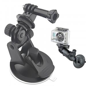 ST-51 Adaptateur pour trépied pour aspirateur pour mini voiture + 7 cm de diamètre pour le support GoPro HERO4 / 3+ / 3/2/1 (noir) SS00461-20