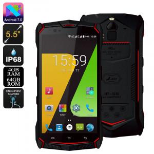 Téléphone robuste JESY J9S Processeur Helio P10 Octa-Core, 4 Go de RAM, 6150 mAh, recharge sans fil, Android 7.0, écran de 5,5 pouces, caméra 16 MP CT7202-20