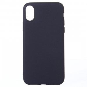 Pour iPhone X Housse de protection arrière en couleur glacée (noir) SP012B3-20