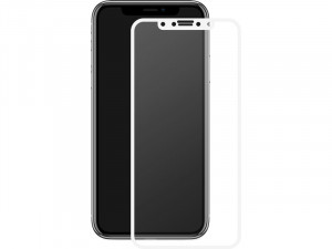 Total Cover 9H Glass blanc Vitre de protection intégrale pour iPhone X / XS IPXMWY0002-20