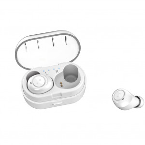 TWS Bluetooth Earphone 5.0 Mini écouteurs véritablement sans fil Stereo Bass Kit oreillette Bluetooth avec chargeur Blanc C5769978-20