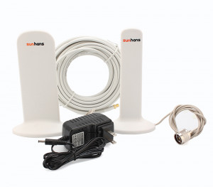 Sunhans Booster / répéteur de signal mobile 4G Dual Band 2600Mhz et 1800Mhz 300m² SUN3G26001800M01-20