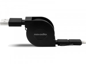 Novodio Extend Câble de charge/synchronisation rétractable Lightning/micro-USB CABNVO0017-20