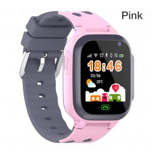 Q16 étanche enfants montre GPS positionnement carte SIM montre intelligente avec respiration lumière USB APP téléphone montre Q16 rose ordinaire C8138FVVE12380-20