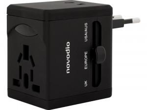 Novodio Universal Travel Adapter Chargeur iPhone de voyage avec 2 prises USB AMPNVO0310-20