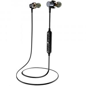 AWEI X660BL Casque Bluetooth Écouteurs à double pilote Casque sans fil avec micro basse stéréo Écouteurs Gris C56151556-20