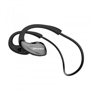 AWEI A880BL Sport Casque Sans Fil Bluetooth Écouteurs Casque pour Téléphones Courir In-Ear Écouteur Écouteur Noir C4809151-20