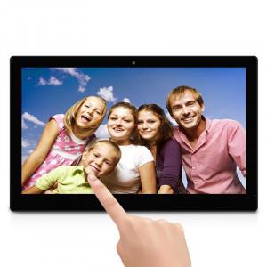 18,5 pouces LCD HD écran tactile Android 4.4 Cadre photo numérique avec support, Quad Core Cortex A9 1.6G, RAM: 1 Go, ROM: 8 Go, prise en charge Bluetooth, WiFi, carte SD, USB OTG (noir) S1230B5-20