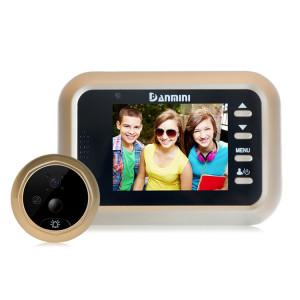 Danmini Q8 2.4 pouces couleur écran 1.0MP caméra de sécurité sans dérangement visionneuse de judas, carte de TF de soutien (32 Go Max) / vision nocturne / détection de mouvement PIR (or) SD36911555-20
