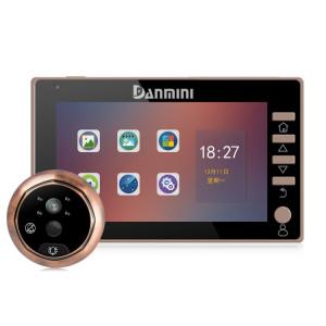 Danmini 45CHD-M 4.5 pouces Écran 3.0MP Caméra de sécurité Pas de dérangeur Peephole Viewer, Support Carte TF / Vision nocturne / Enregistrement vidéo / Détection de mouvement SH3693695-20