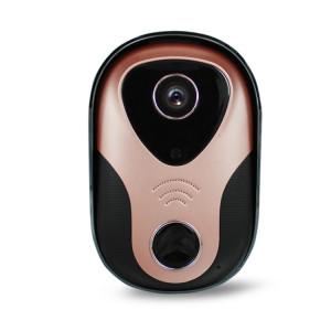 163Eye L1-NJ Smart Visual WIFI 1.3MP Réseau HD Interphone Sonnette, Soutien Micro SD Carte et Vision Nocturne (Or Rose) S104RG1314-20