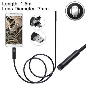 Caméra d'inspection de tube de serpent imperméable USB et endoscope USB 2 en 1 avec 6 DEL pour le plus récent téléphone OTG Android, longueur: 1,5 m, diamètre de la lentille: 7 mm SH05251514-20