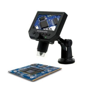 G600 600X 3.6MP 4.3 pouces HD Écran LCD de chargement USB Microscope numérique portable avec lumière LED, Carte de support micro SD (64 Go max.), Prise US, CA 100-240V SH1518563-20